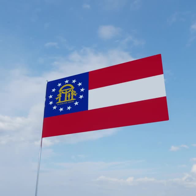 Watch Georgia (U.S. state) GIF by arc4g (@arc999) on Gfycat. Discover more 3d, Georgia, b3d, flag GIFs on Gfycat