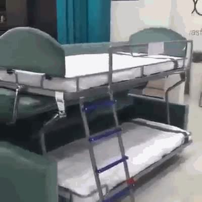 Watch and share Turn A Bunk Bed Into A Sofa Easily.. GIFs on Gfycat