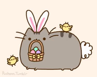 Watch this trending GIF by The GIF Smith (@sannahparker) on Gfycat. Discover more easter, easter basket, easter bunny, easter eggs, pusheen GIFs on Gfycat