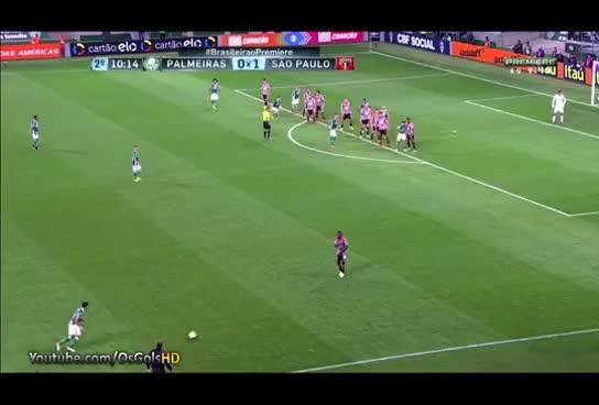 Watch and share Gol De Yerry Mina, Palmeiras 2 X 1 São Paulo - Brasileirão 07/09/2016 [HD] GIFs on Gfycat