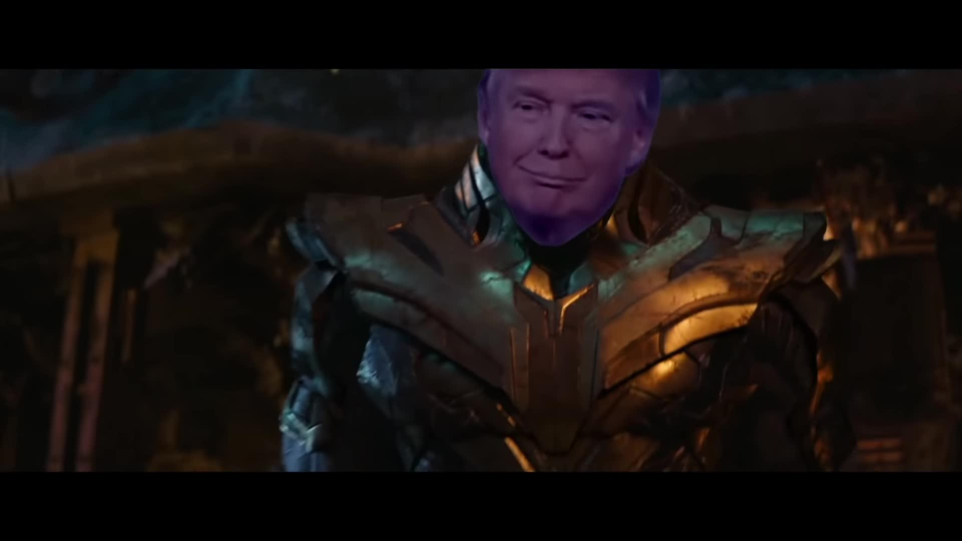 TheGeekzTeam, avengers, avengers memes, fakes news memes, memes, thanos memes, thanos trump, trump, trump memes, trump train, obama bitch yo GIFs
