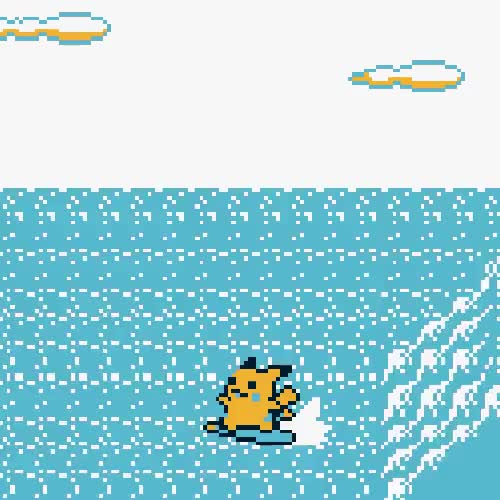 Watch and share Pikachu Loves To Surf GIFs on Gfycat