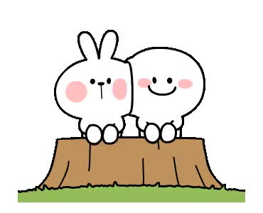 Watch and share [Animation] Rabbit & Smile Happy Day animated stickers on Gfycat