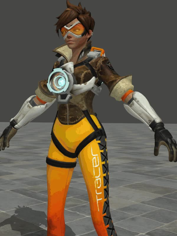 Watch and share Overwatch Tracer Hologram Animation By Johnzero7 GIFs on Gfycat