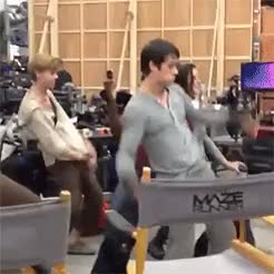 Watch this GIF on Gfycat. Discover more KAYASCODELARIO, crazy, dance, dylano'brien, film, funny, gally, gif, moment, newt, teresa, themazerunner, thomassangster, thommy, willpoulter GIFs on Gfycat