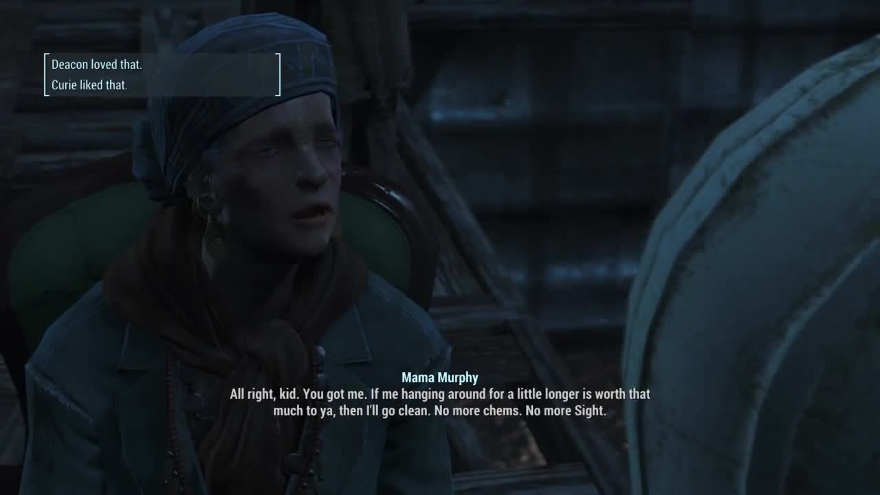 fo4, Mama Murphy gets clean for good GIFs