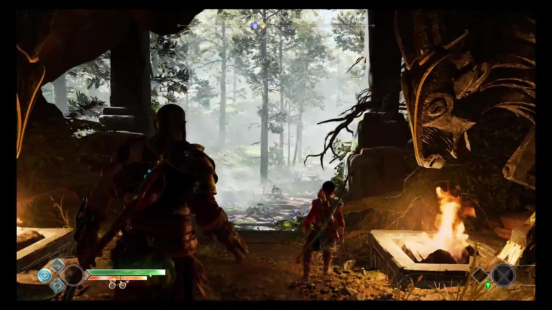 Gaming, RichJamez, godofwar, ps4pro, God of War - Forest Ancient Boss Fight GIFs
