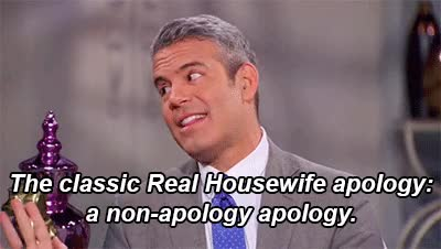 Watch apology GIF on Gfycat. Discover more andy cohen GIFs on Gfycat