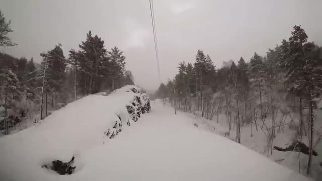 """Watch and share Train Driver's View: """"Stormy"""" Winter Conditions On The Mountainpass (Bergen - Ål) GIFs on Gfycat"""