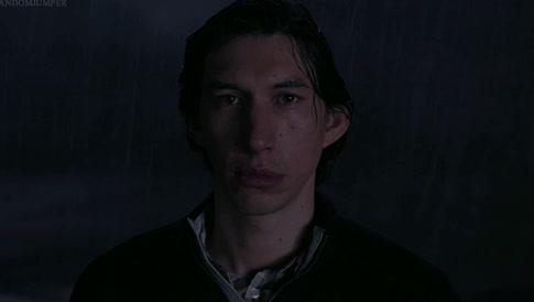 adam driver, alone, lonely, rain,  GIFs