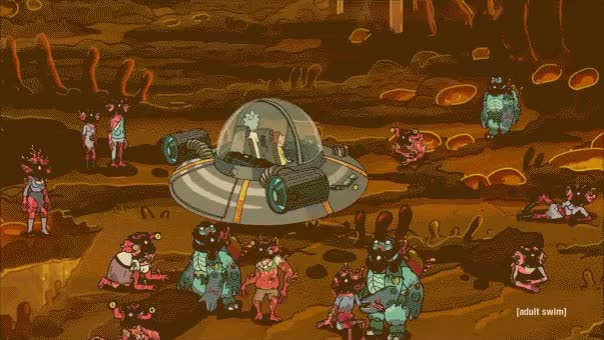 Watch and share Rick And Morty GIFs and Spaceship GIFs by AEARONJER CIRCUMSTANCE on Gfycat