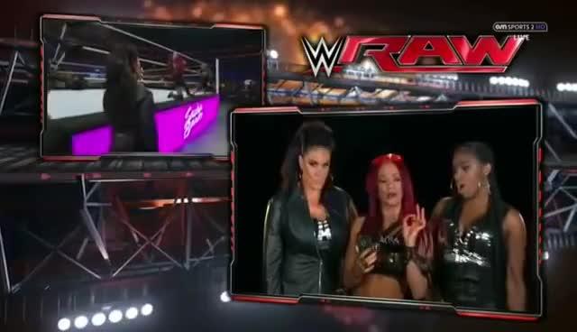 Sasha Banks mocks The Bella twins GIFs
