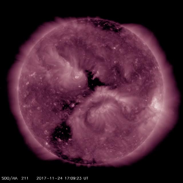 Watch and share Solar Filament Eruption - November 25, 2017 - AIA211 GIFs by The Watchers on Gfycat
