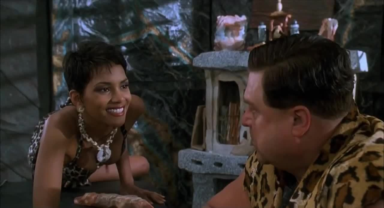 halle berry, Halle Berry Rocked the plot in the Flintstones Movie (2 MIC) (reddit) GIFs