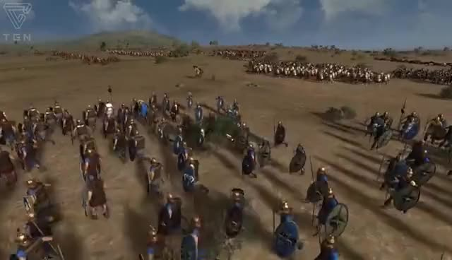 Watch and share Total War Rome 2 Online Battle Video 357 Epic Greek Hoplite Battle GIFs on Gfycat