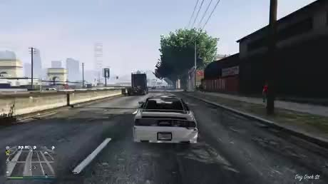 Barely missing all these vehicles - gif