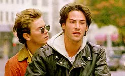 Watch this GIF on Gfycat. Discover more 1991, 90s, Keanu and River, Mike Waters, River Phoenix, keanu reeves, kr, my gifs, my own private idaho, my own private idaho 1991, scott and mike, scott favor GIFs on Gfycat