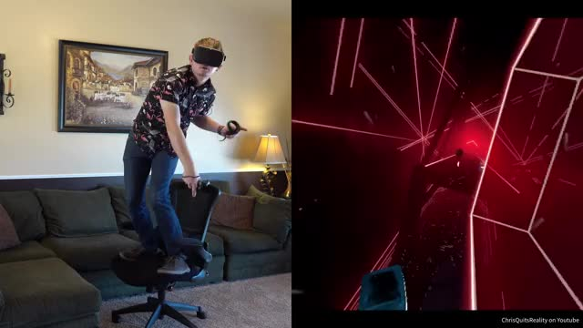Watch and share Virtual Reality GIFs and Beat Saber GIFs by ChrisQuitsReality on Gfycat