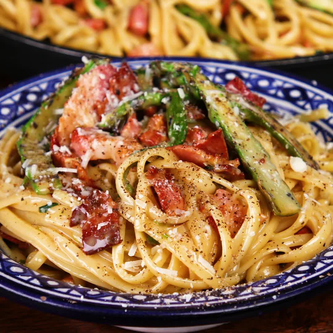 Asparagus Carbonara GIFs