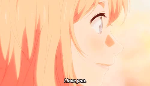 Watch Arima Kousei-kun I love you!  GIF on Gfycat. Discover more *shigatsu, i didn't expect it to end that way tbh...., im not crying .. you're crying..., kaori miyazono, miyazono kaori, mygif, now if you need me i'll be crying in the corner, ok but really, shigatsu spoilers, shigatsu wa kimi no uso, thanks for the ride :)), this show was amazing all the way through i applaud the mangaka of this, your lie in april GIFs on Gfycat