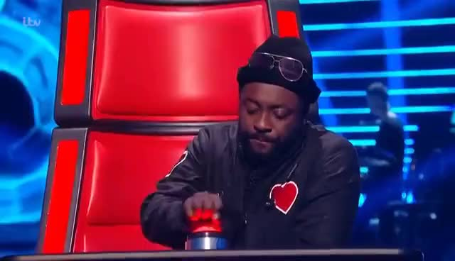 Watch and share Will.i.am Accidentally Presses His Button!   The Voice UK 2017 GIFs on Gfycat