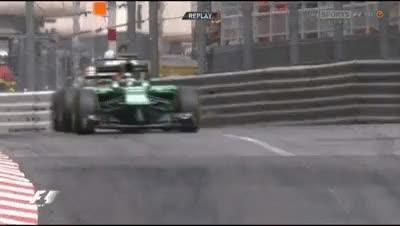 Watch Kobayashi gets sideways as Kimi tries an overtake - Monaco 2014. (reddit) GIF on Gfycat. Discover more formula1gifs GIFs on Gfycat