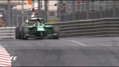 formula1gifs, Kobayashi gets sideways as Kimi tries an overtake - Monaco 2014. (reddit) GIFs