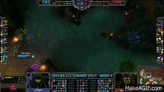 Curse (Voyboy Kassadin) VS LMQ (Xiaoweixiao Pantheon) Highlights - 2014 NA LCS Summer W4D2