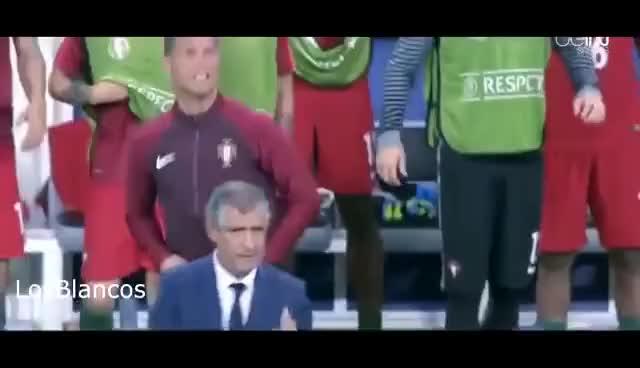Watch and share Cristiano Ronaldo Coaching Euro 2016 Final ( PORTUGAL Vs FRANCE) GIFs on Gfycat