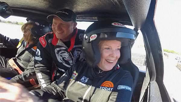 Watch and share After A Few Loops Around The Course, Sheryl Was Warmed Up And Ready To Crush Some Cars! GIFs on Gfycat