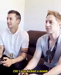 Watch twenty one pilots playing super smash bros. GIF on Gfycat. Discover more 21gifs, 21pilots, 5k, twenty one pilots, tyler joseph GIFs on Gfycat