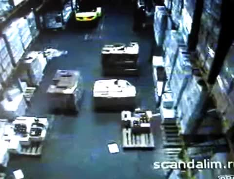 Watch Fork Lift Destroys Warehouse GIF on Gfycat. Discover more related GIFs on Gfycat
