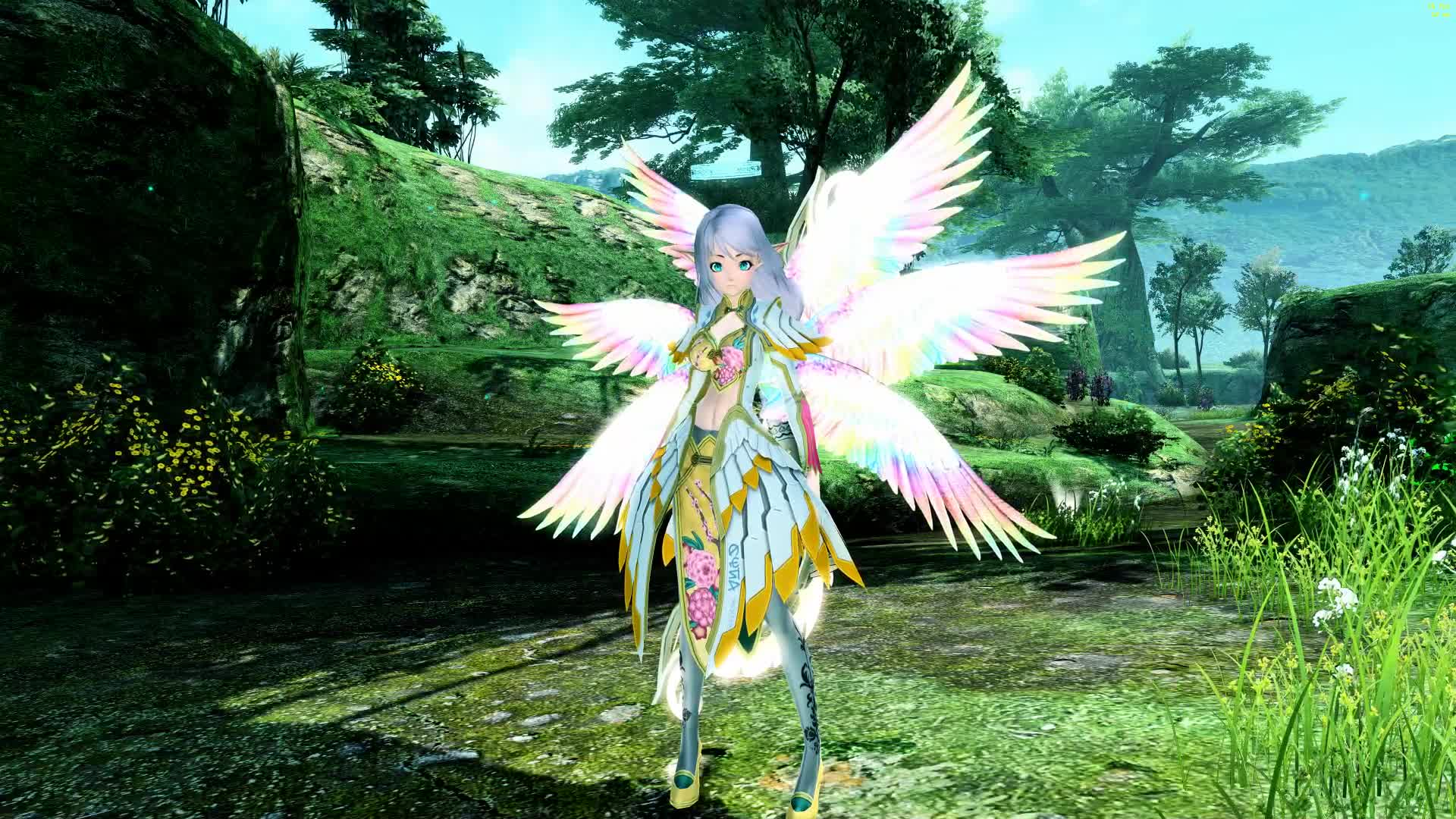 PSO2 - Snowbell ARKSeraph Form GIFs