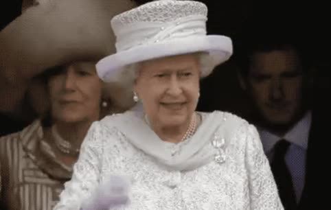 Watch this queen GIF by GIF Queen (@ioanna) on Gfycat. Discover more adios, british, bye, cute, elizabeth, family, farewell, goodbye, hello, hey, hi, lady, old, queen, royal, smile, uk, wave, waving, white GIFs on Gfycat