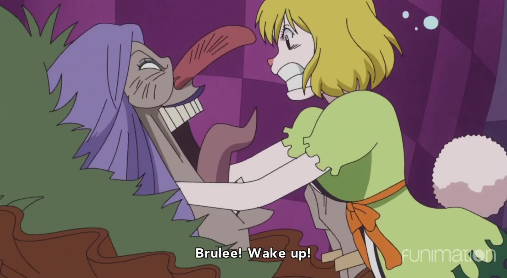 anime, coffee, ep816, funimation, funny, one piece, one piece episode 816, onepiece, sleepy, tired, wake, wake up, Wake up Brulee! GIFs
