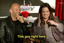 Watch and share Melissa Mccarthy GIFs and Jason Statham GIFs on Gfycat