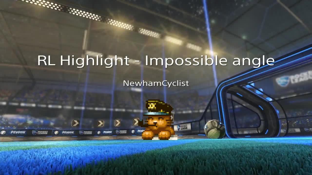 RocketLeague, ps4share, sony interactive entertainment, Rocket League Highlight - Impossible angle backboard shot GIFs