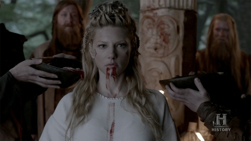 vikingstv, King Ecbert after the sacrifice scene (Season 3- Episode 3) (reddit) GIFs