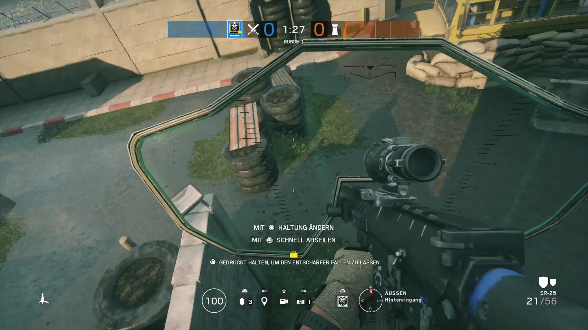 #PS4share, CallaxD, PlayStation 4, Sony Interactive Entertainment, Tom Clancy's Rainbow Six® Siege, You can aim there even when rappelling. GIFs
