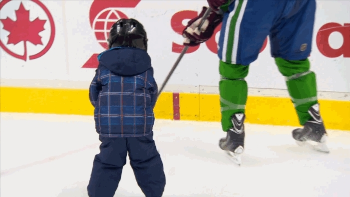 hawwkey, hockey, Kesler with the brutal check to the knees (reddit) GIFs