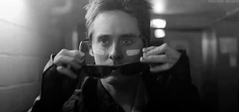 Watch and share Jared Leto GIFs and Glasses GIFs by Reactions on Gfycat