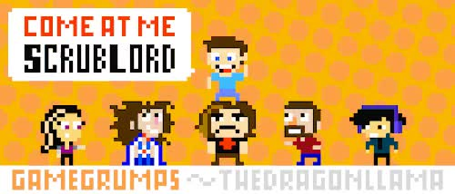 Watch Decided to make some fanart of the GameGrumps. I have been a GIF on Gfycat. Discover more danny, egoraptor, fanart, game grumps, pixel art GIFs on Gfycat