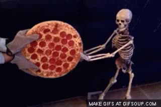 Watch pizza skeleton GIF on Gfycat. Discover more gfycatdepot GIFs on Gfycat