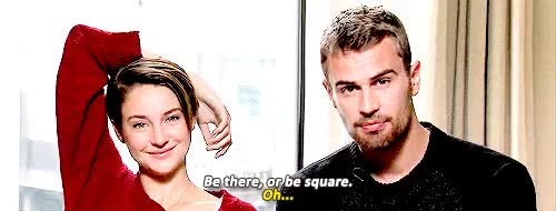 Watch and share Shailene Woodley GIFs and Theo James GIFs on Gfycat