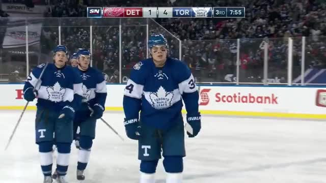 Watch and share Auston Matthews 19th NHL Goal! 1/1/2017 - Centennial Classic GIFs by eclayds on Gfycat