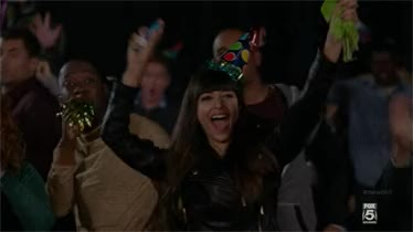 Watch and share Hannah Simone GIFs and Party Time GIFs on Gfycat