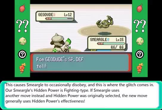 Watch Hidden Power-disobedience move effectiveness glitch (Emerald) GIF on Gfycat. Discover more related GIFs on Gfycat
