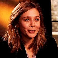 Watch and share Elizabeth Olsen GIFs and Smiling GIFs on Gfycat