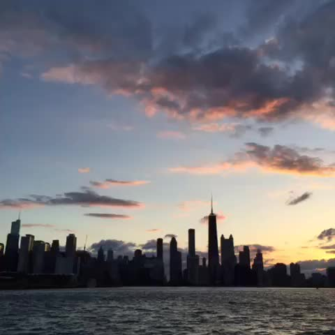 Watch and share Chicago Sunset GIFs by 121gigawatt on Gfycat