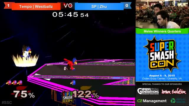 SSC - Tempo | Westballz (Falco) Vs. SP Zhu (Falco) SSBM Winners Quarters - Smash Melee